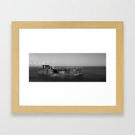 Breakwater Island B&W Framed Art Print
