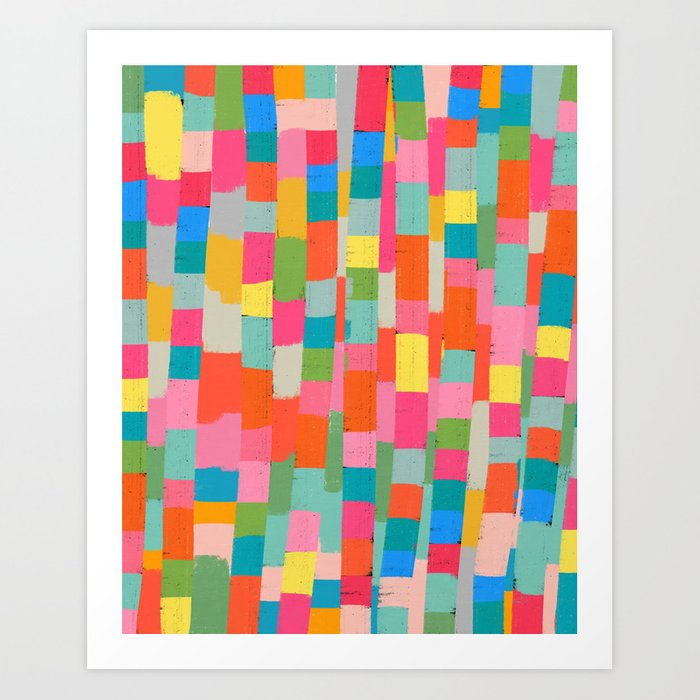 colorful patchwork 2 Art Print