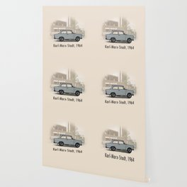 A Trabant in Karl-Marx-Stadt Wallpaper