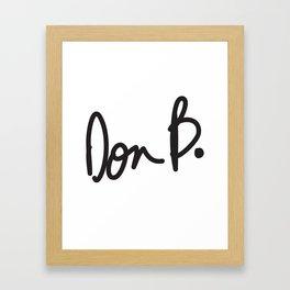 Don B. Framed Art Print