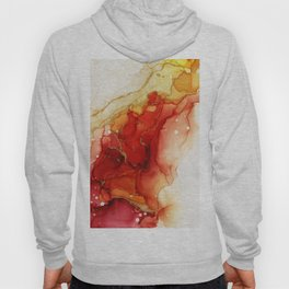 Golden Flames Abstract Ink - Part 2 Hoody
