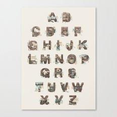 Resort Alphabet Canvas Print