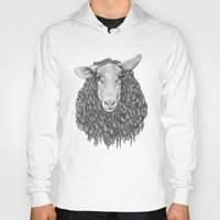 sheep Hoodies featuring Sheep by Thea Nordal