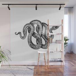 snake tattoo sketch Wall Mural