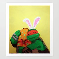 Easter egg and Mikey Art Print