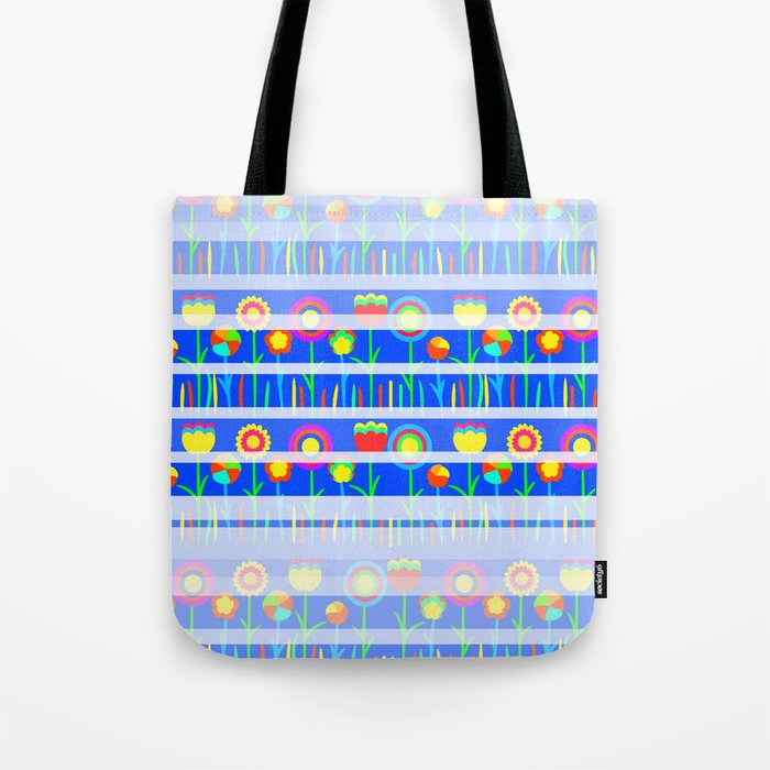 Floral spring party in blue Tote Bag