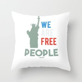 Fourth of July Independence Day USA Throw Pillow