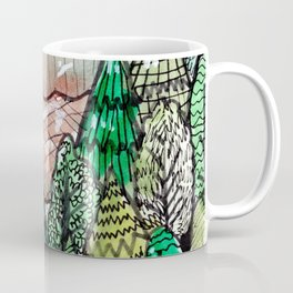 landscape forest montain pines Coffee Mug