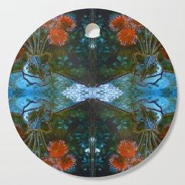 Dahlias Photographic Pattern #1 Cutting Board