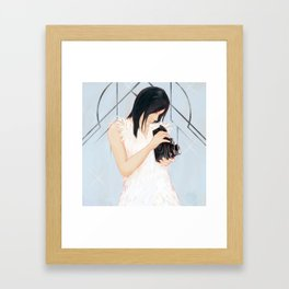 Rollei girl Framed Art Print