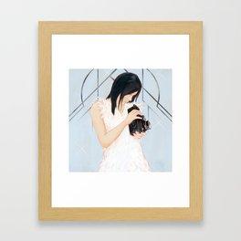 Rollei girl Framed Art Print