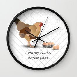 from my ovaries to your plate Wall Clock