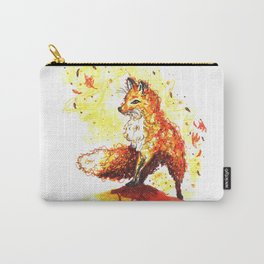 Illustration Renard Automne Orange - Autumn Fox de Lucille Bertrand Carry-All Pouch