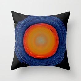 Circular Sunset Throw Pillow
