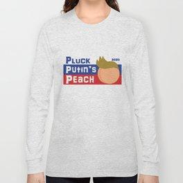 Pluck Putin's Peach Long Sleeve T-shirt