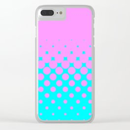Pink to Blue Clear iPhone Case
