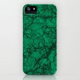 Jade Green Hunting Camo Pattern iPhone Case