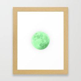 LIME MOON Framed Art Print