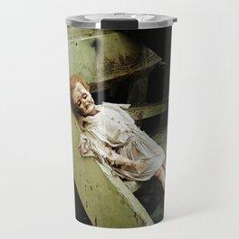 creepy doll Travel Mug