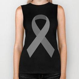 Gray Awareness Support Ribbon Biker Tank