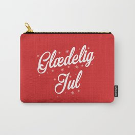 Glaedelig Jul Red Background Carry-All Pouch
