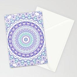 Pastel Purple and Green Mandala Stationery Cards