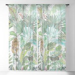 Jungle Leopard Sheer Curtain