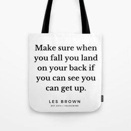 20   |  Les Brown  Quotes | 190824 Tote Bag