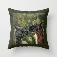 Sweet Llamas Throw Pillow