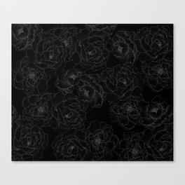 Peony Flower Pattern III Canvas Print