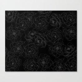 Peony Flower Pattern III Canvas Print