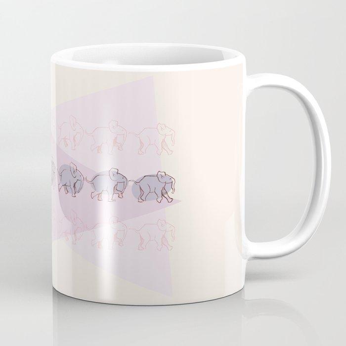 Elephant Train Coffee Mug