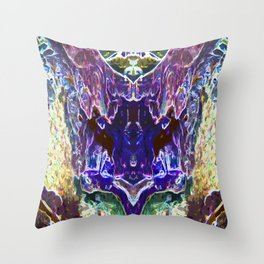 Abstract Trippy Waterfalls Throw Pillow