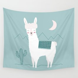 Alpaca In The Mountains Wall Tapestry