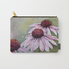 PINK ECHINACEA DAISIES in WATERCOLORS Carry-All Pouch