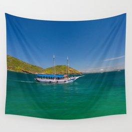 Boat ride in Buzios, Rio de Janeiro (Brasil) Wall Tapestry
