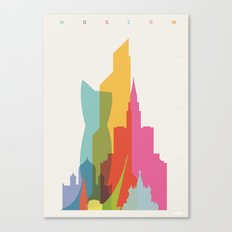 Shapes of Moscow Canvas Print