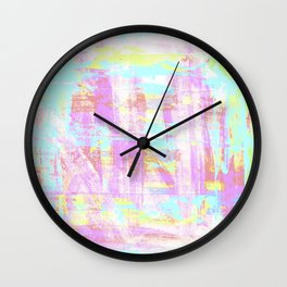 abstract pastell  Wall Clock