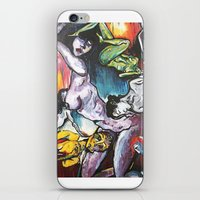 gravity iPhone & iPod Skins featuring Gravity by Lily Mandaliou