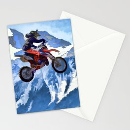 Mountain View - Dirt-bike Racer Stationery Cards
