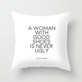 Shoes Off Please,Fashion Print,Wall Art,Quote Print,Fashionista,High Heels,Shoes Women,Inspirational Throw Pillow