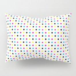 Light CMYK Polka Dots Pillow Sham