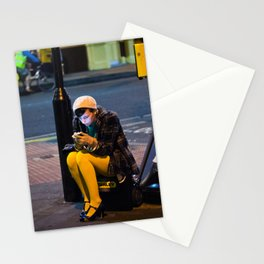 Lady in Yellow - Brick Lane, London Stationery Cards