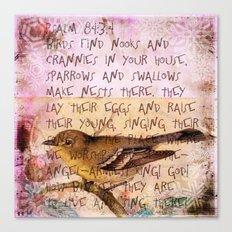 Birds have nests Canvas Print