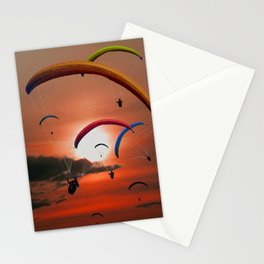 The paragliders Stationery Cards