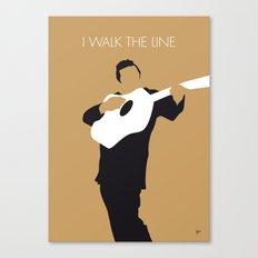 No010 MY Johnny Cash Minimal Music poster Canvas Print