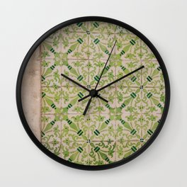Portuguese Tiles Wall Clock
