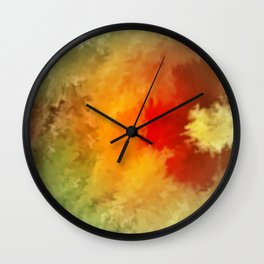 Summer floral wallpapaer. Wall Clock