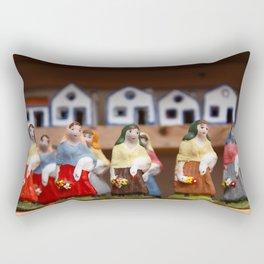 Handpainted figurines Rectangular Pillow