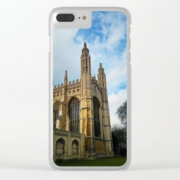 Kings college chapel Clear iPhone Case